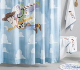 Pottery Barn Disney and Pixar Toy Story Shower Cur