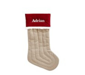 Pottery Barn Solid Woodland Stocking