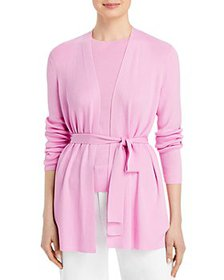 Lafayette 148 New York - Belted Ribbed Cardigan