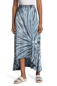 GO COUTURE Printed High/Low Skirt