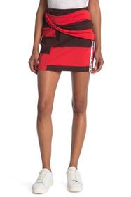 3.1 PHILLIP LIM Striped Wrap Fitted Mini Skirt
