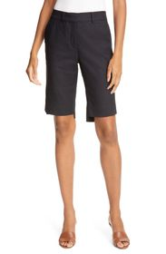 FRAME Solid High Waisted Trouser Shorts