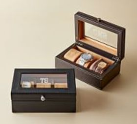 Pottery Barn Grant Leather Watch Box