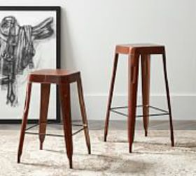Pottery Barn Rhodes Leather Bar & Counter Stools