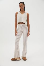 UO Naomi Striped Knit Flare Pant