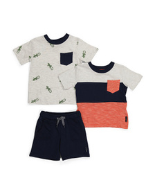 Infant Boy 3pc French Terry Short Set