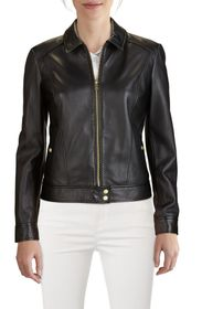 Cole Haan Smooth Lambskin Leather Jacket
