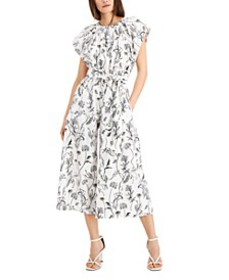 INC Cotton Floral-Print Jumpsuit, Created for Macy