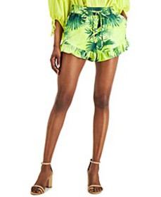 INC Tropical-Print Pull-On Shorts, Created for Mac