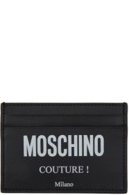 moschino - Black Fantasy Print 'Couture' Card Hold