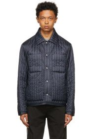 craig-green - Navy Quilted Worker Jacket