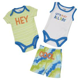Baby Boy (NB-9M) Chick Pea 3pc. Cool Shorts and Bo
