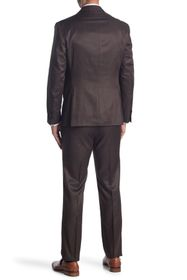 KENNETH COLE REACTION Brown Solid Two Button Notch