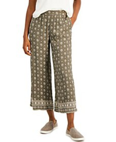Printed Border Wide-Leg Pants, Created for Macy's