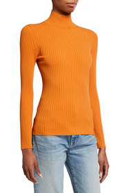 Tory Burch Ribbed Turtleneck Sweater