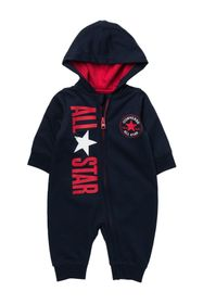 CONVERSE All Star Hooded Zip Coverall (Baby Boys 0