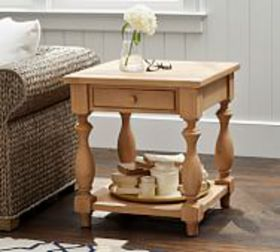 """Pottery Barn Parkmore 24"""" Reclaimed Wood End Table"""