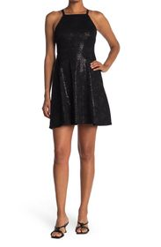 GUESS Sequin Fit & Flare Skater Dress