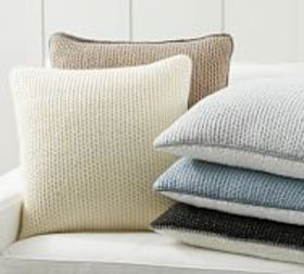 Pottery Barn Thermal Sherpa Back Knit Pillow Cover