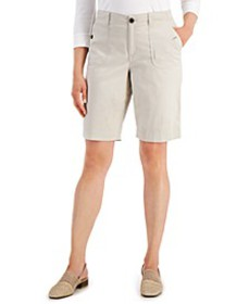 Utility-Pocket Stretch-Waist Shorts, Created for M