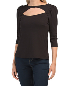 Keyhole Neck Date Night Top