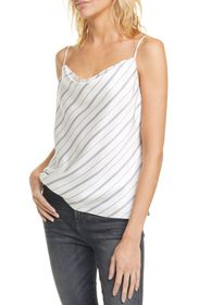 LAGENCE Kay Cowl Neck Silk Camisole