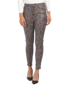 Made In Usa Coated Lillie High Rise Crop Skinny Pa