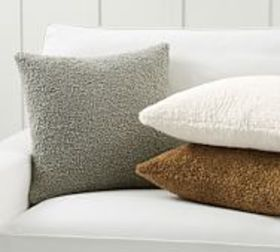 Pottery Barn Cozy Teddy Faux Fur Pillow Covers