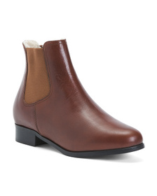 Made In Italy Warm Lining Chelsea Leather Boots