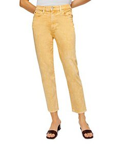 7 For All Mankind - High Waist Cropped Straight Le