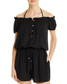 kate spade new york - Ruffled Off-The-Shoulder Rom