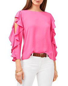 VINCE CAMUTO - Ruffled Sleeve Blouse