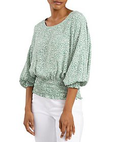 VINCE CAMUTO - Printed Puff Sleeve Top