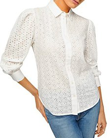 7 For All Mankind - Puff Sleeve Eyelet Shirt
