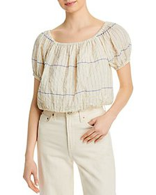 Tory Burch - Striped Cropped Top