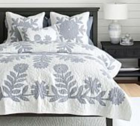 Pottery Barn Lilo Handcrafted Cotton Quilt & Shams