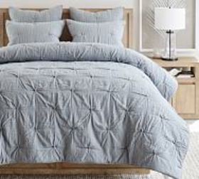 Pottery Barn Soft Cotton Striped Handcrafted Quilt