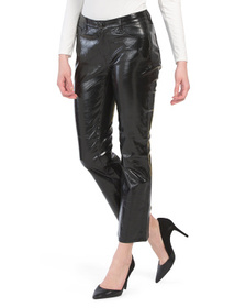 Franky High Rise Crop Patent Leather Pants