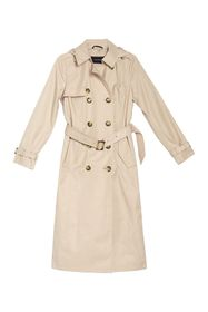 TAHARI Laurie Double Breasted Maxi Trench Coat