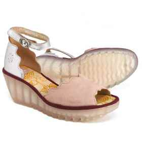 Fly London Yece Wedge Sandals - Leather (For Women