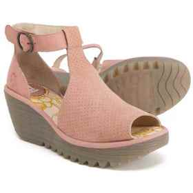 Fly London Yall Wedge Sandals - Suede, Closed Back