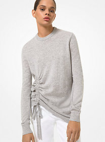 Michael Kors Cashmere Ruched Sweater