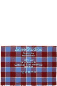 acne-studios - Red & Blue Wool Oversized Scarf