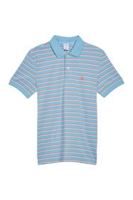 BROOKS BROTHERS Yarn Dyed Pique Stripe Print Polo