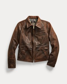 Ralph Lauren Fitted Leather Field Jacket