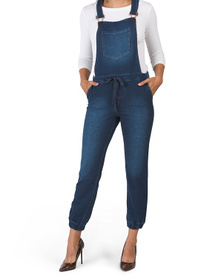 Juniors Knit French Terry Overalls