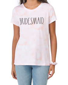Bridesmaid T-shirt With Scrunchie