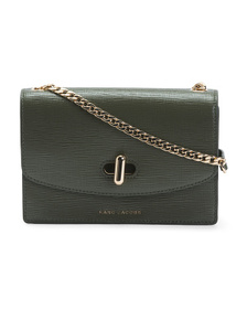 Leather Crossbody With Chain Strap