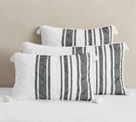 Pottery Barn Mesa Striped Handcrafted Cotton Quilt