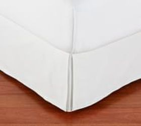 Pottery Barn Basic Pleated Cotton Bed Skirt